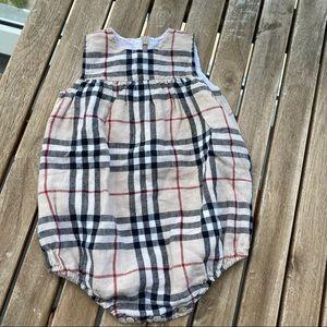 Beach wear Romper linen 3 / 6 months Burberry